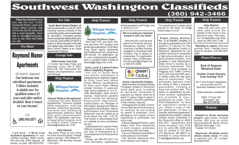 Classifieds 6.17.20