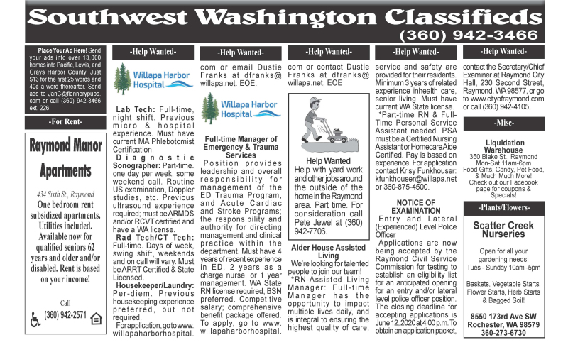 Classifieds 5.27.20
