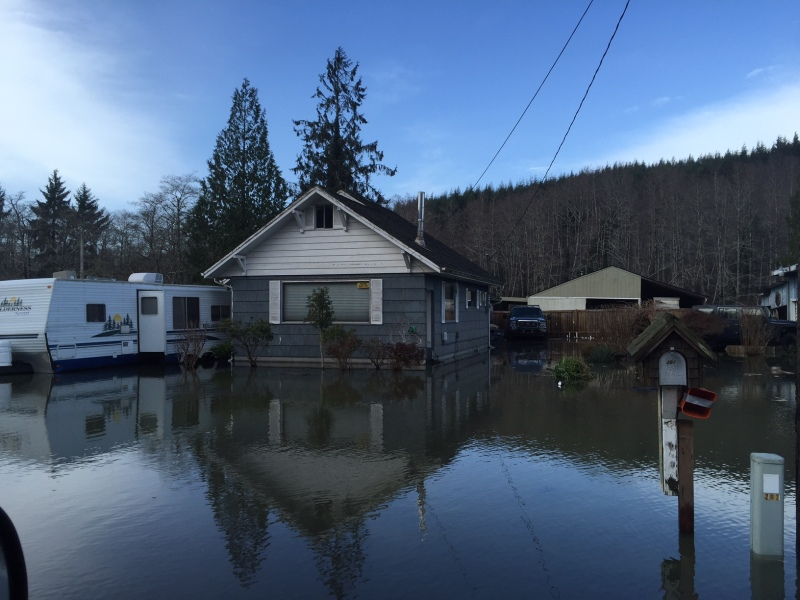 Hoquiam Floods During King Tide