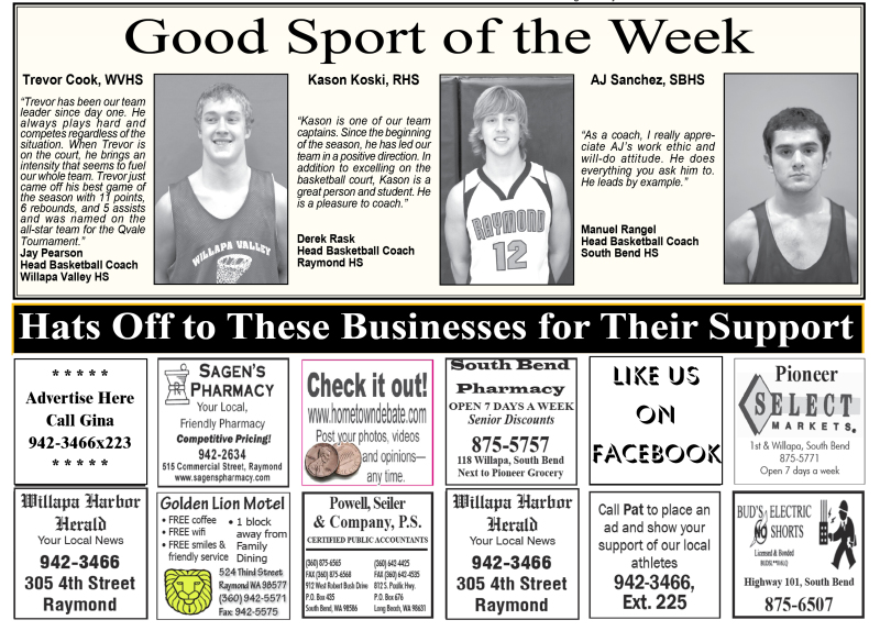 Good Sports of the Week