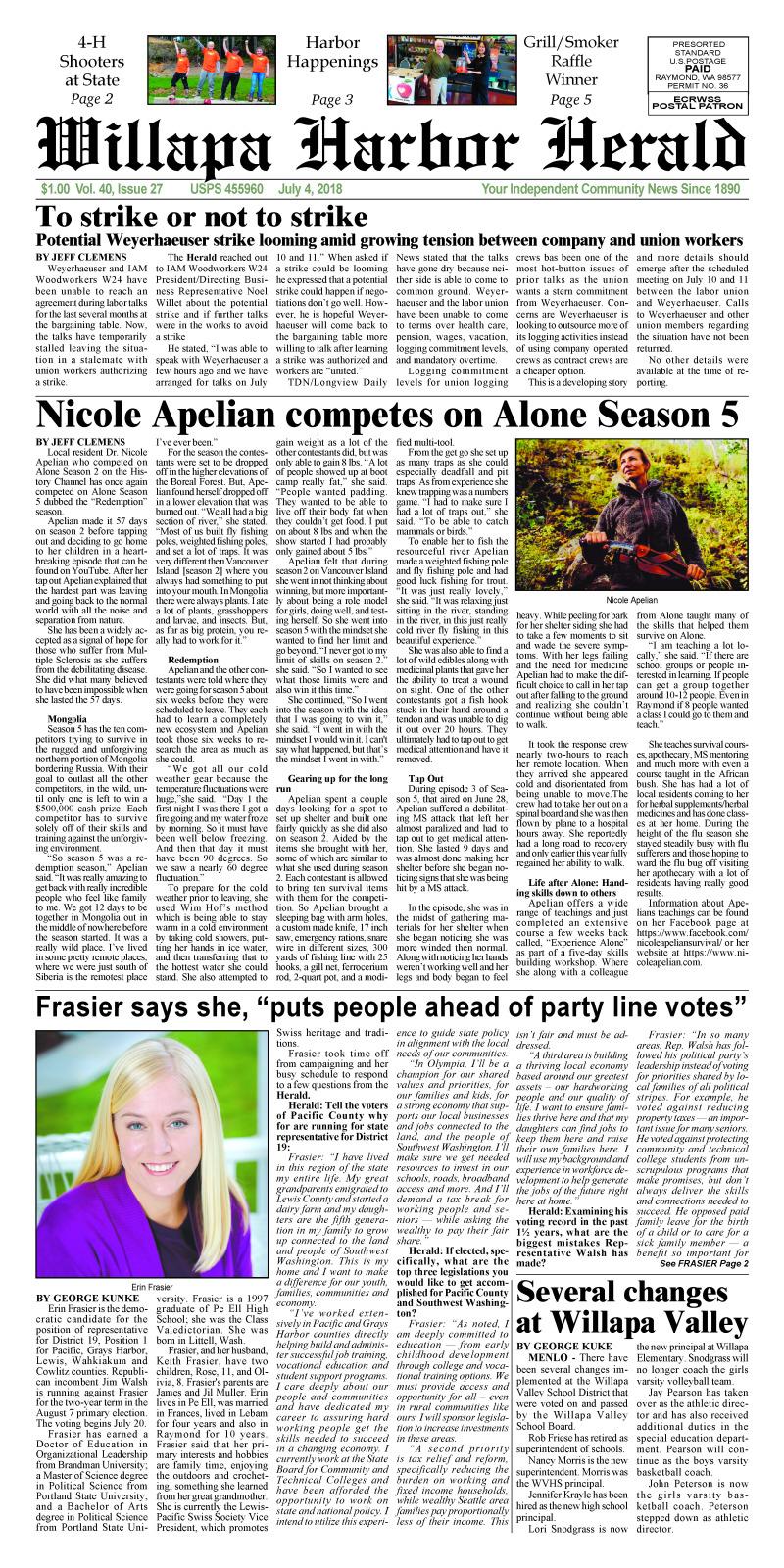 July 4, 2018 Willapa Harbor Herald