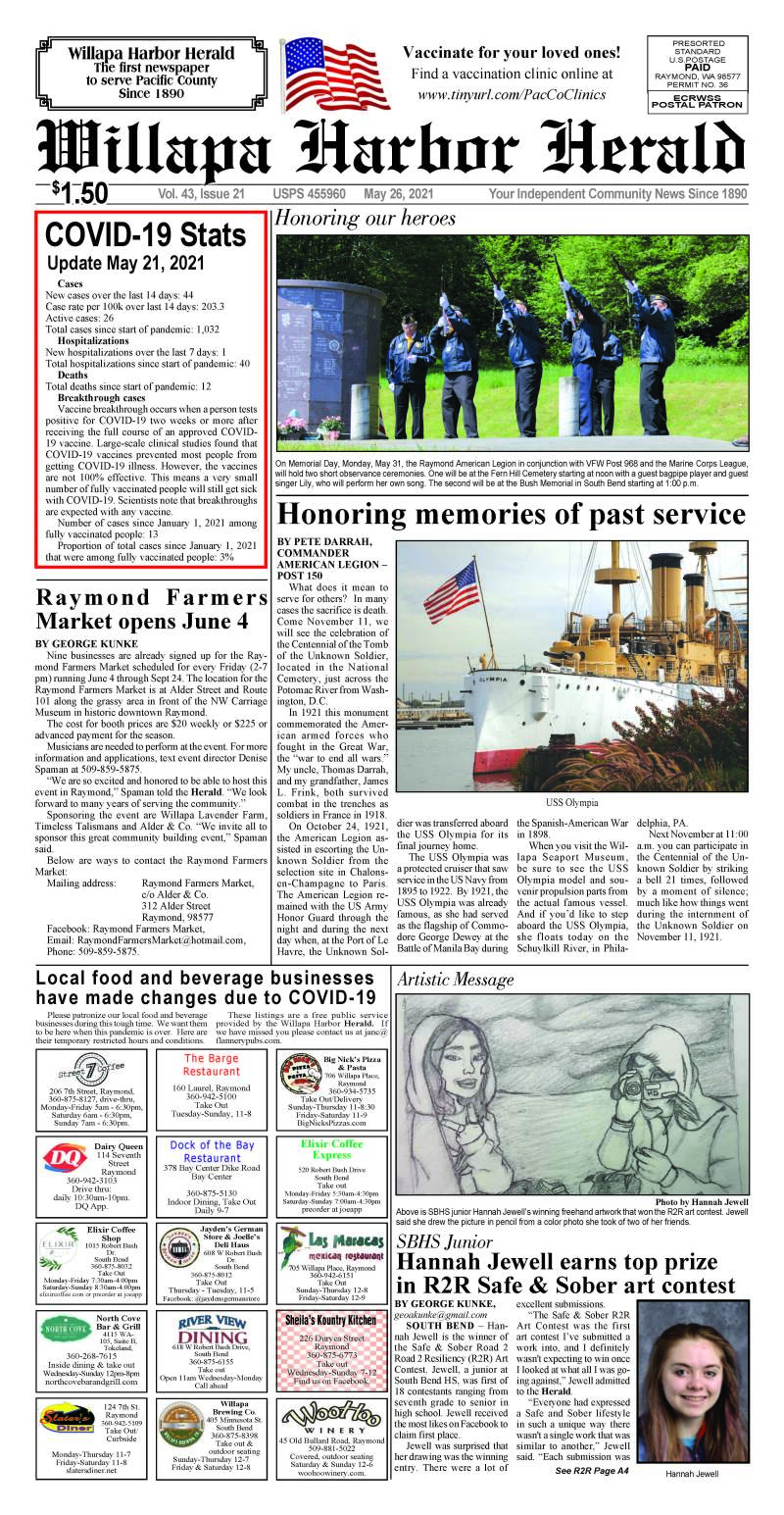 May 26, 2021 Willapa Harbor Herald and Pacific County Press