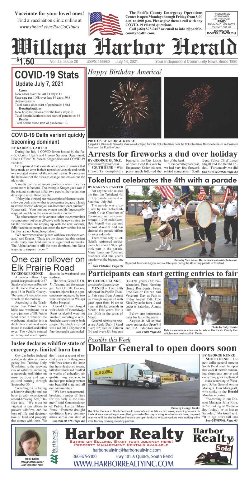 Jul 14, 2021 Willapa Harbor Herald and Pacific County Press