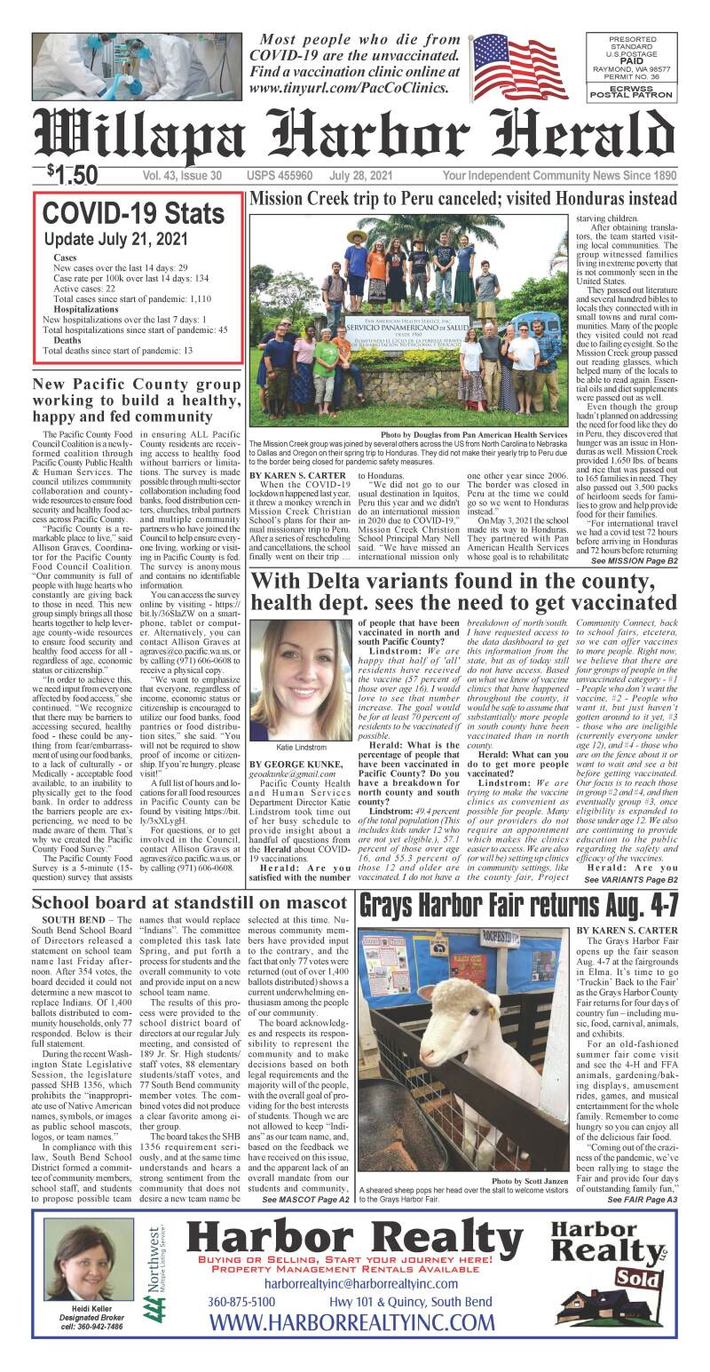 July 28, 2021 Willapa Harbor Herald and Pacific County Press