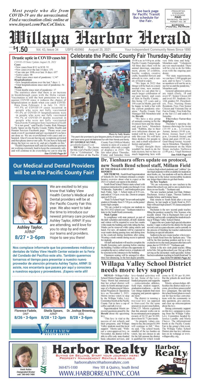 August 25, 2021 Willapa Harbor Herald and Pacific County Press