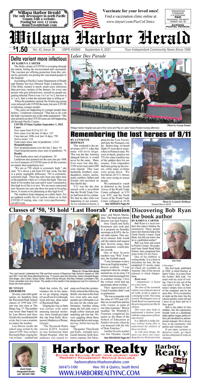 September 8, 2021 Willapa Harbor Herald and Pacific County Press
