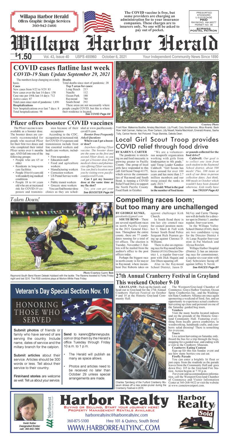 October 6, 2021 Willapa Harbor Herald and Pacific County Press