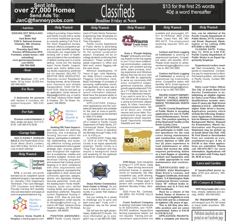 Classifieds 4.27.16