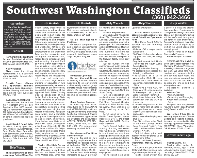 Classifieds 3.22.17