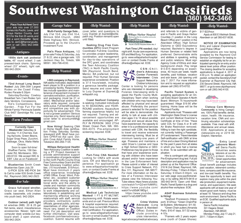 Classifieds 7.19.17