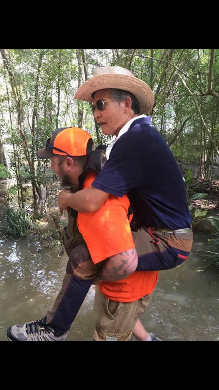 Local volunteers help during hurricanes