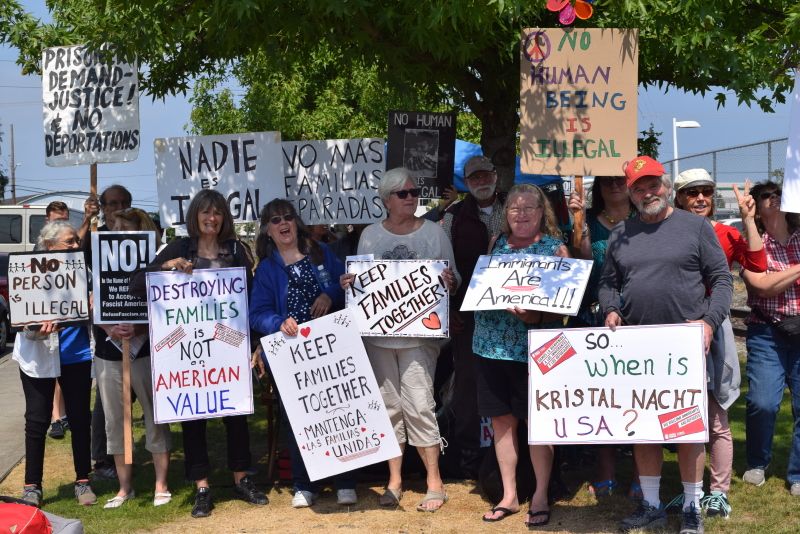 Willapa Bay Resistance joins Northwest Detention Center Protest