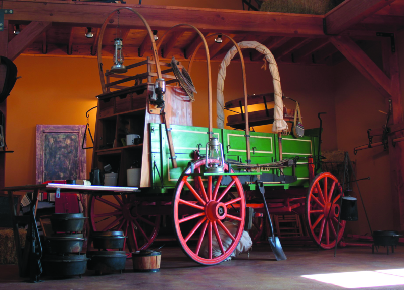 The addition of a Chuck Wagon to the Northwest Carriage Museum's collection brings their total number of horse drawn vehicles to 43. This is more than double since the museum opened in 2002.