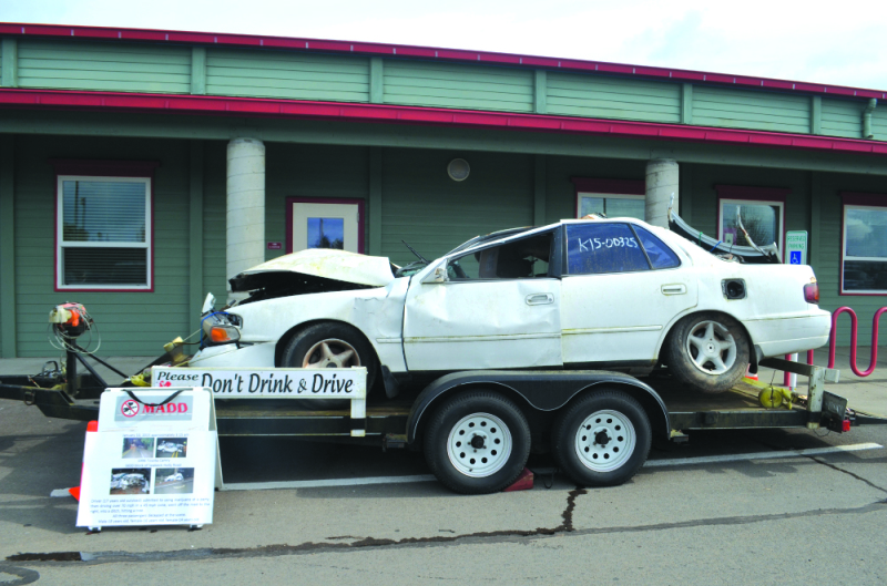 Mock car crash a huge success at Winlock High School