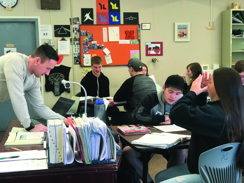 A peek inside the Napavine Spanish classroom