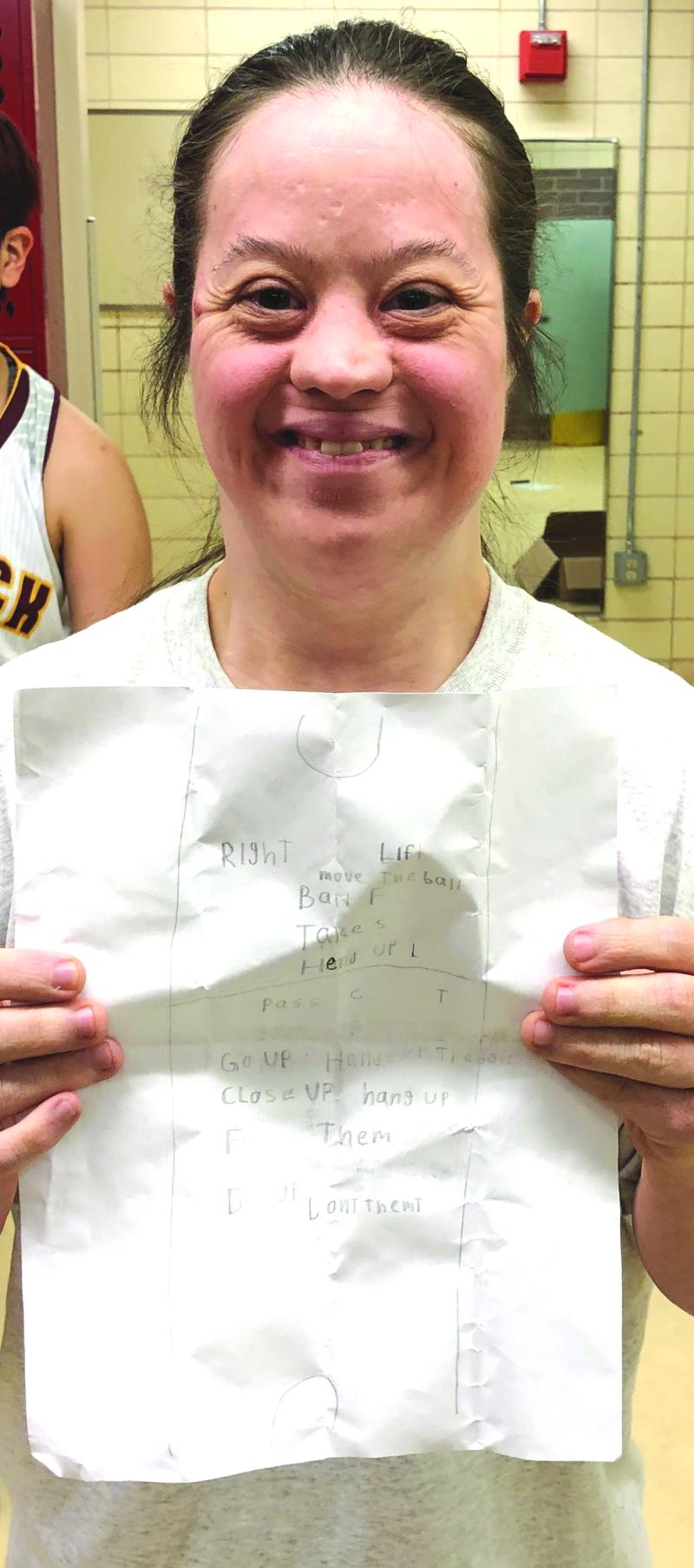 Assistant Coach KC Oakley give Winlock Girls Basketball heart