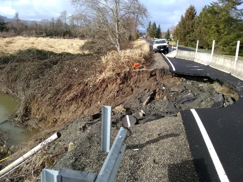 Mill Creek road collapse again