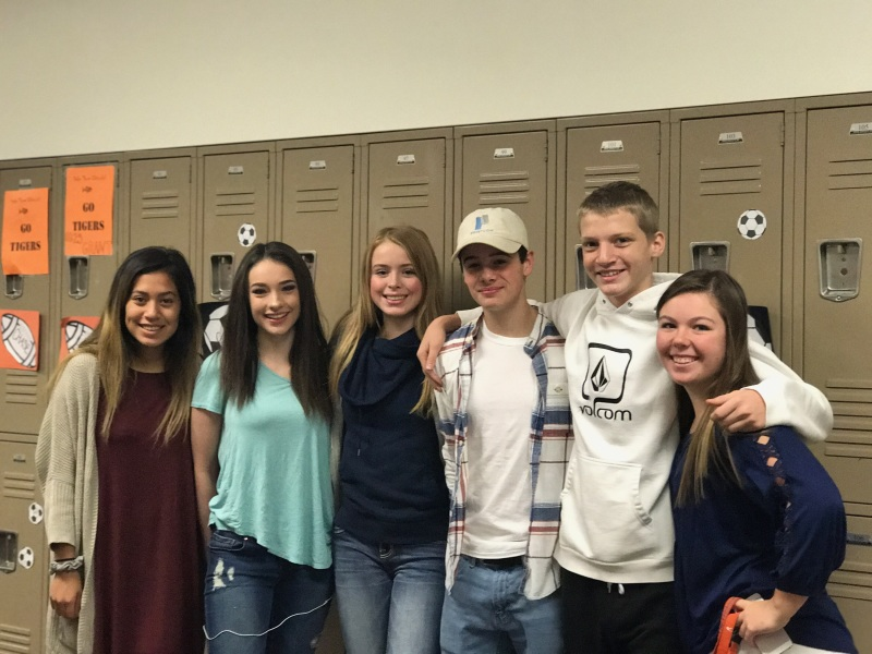 Napavine students left to right: Lucky Sevilla, Alexia Rose, Hallie Williams, Joey Krause, Russel Vaughn, and Ada Williams.