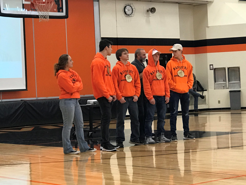 Napavine celebrates their wrestling state athletes