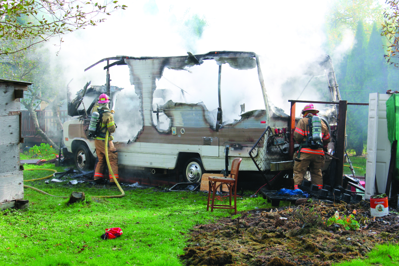 Raymond Fire Department knocks down RV fire quickly