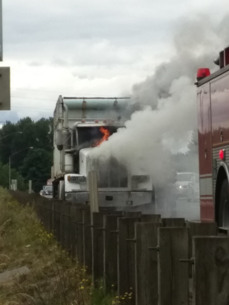 Truck Fire on Southbound I-5