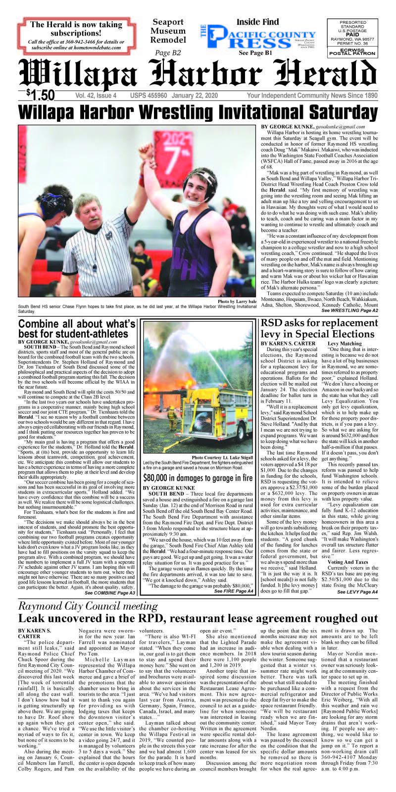 January 22, 2020 Willapa Harbor Herald and Pacific County Press