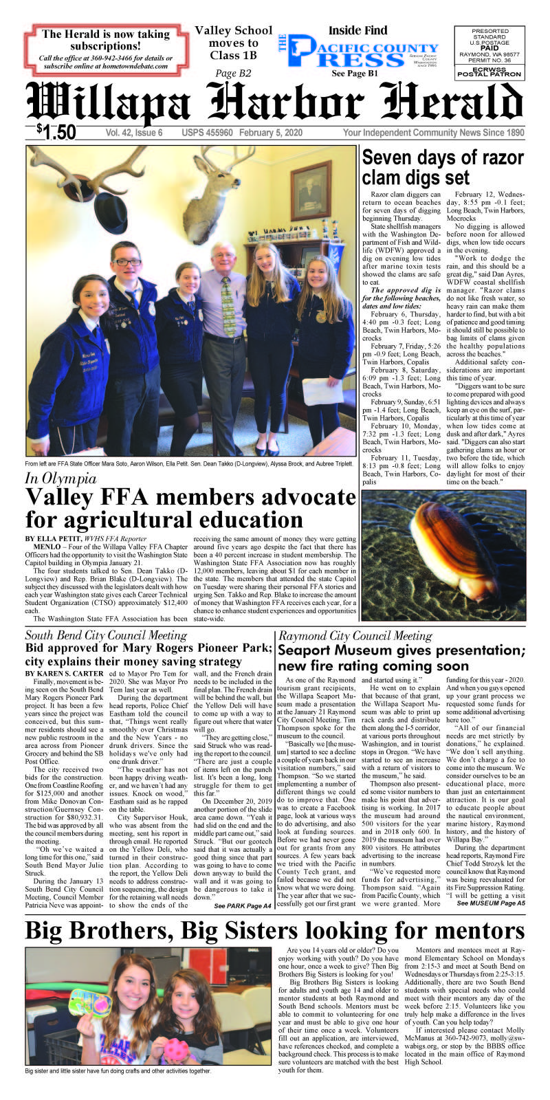 February 5, 2020 Willapa Harbor Herald and Pacific County Press