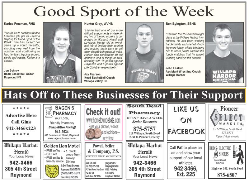 Good Sport of the Week 2.10.16