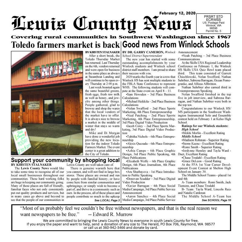 February 12, 2020 Lewis County News