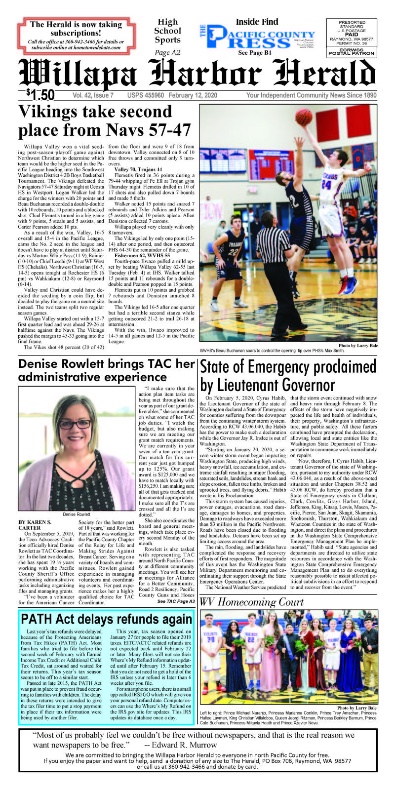 February 12, 2020 Willapa Harbor Herald and Pacific County Press