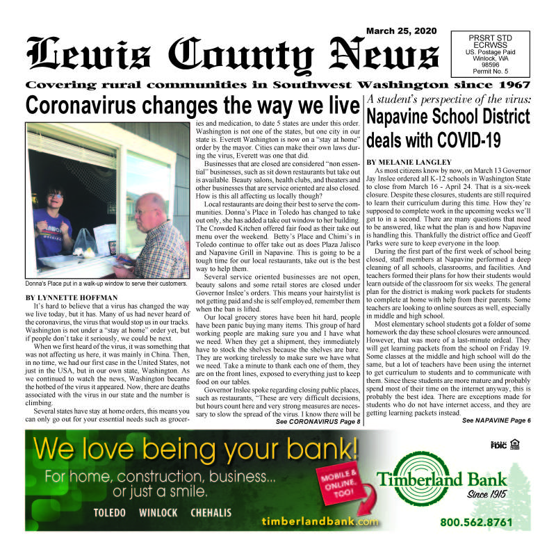 March 25, 2020 Lewis County News