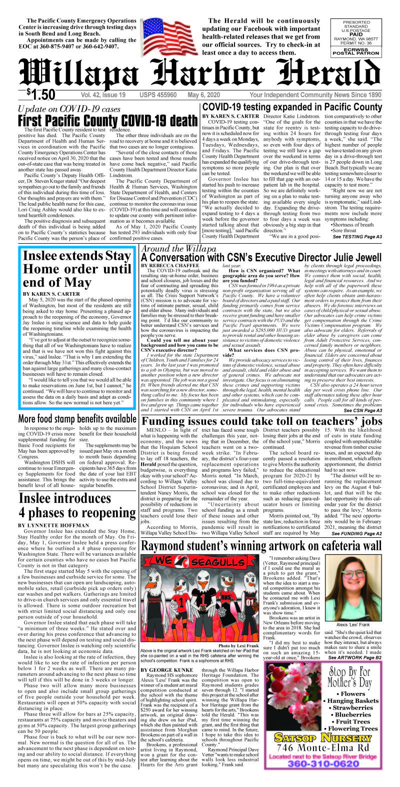 May 6, 2020 Willapa Harbor Herald and Pacific County Press
