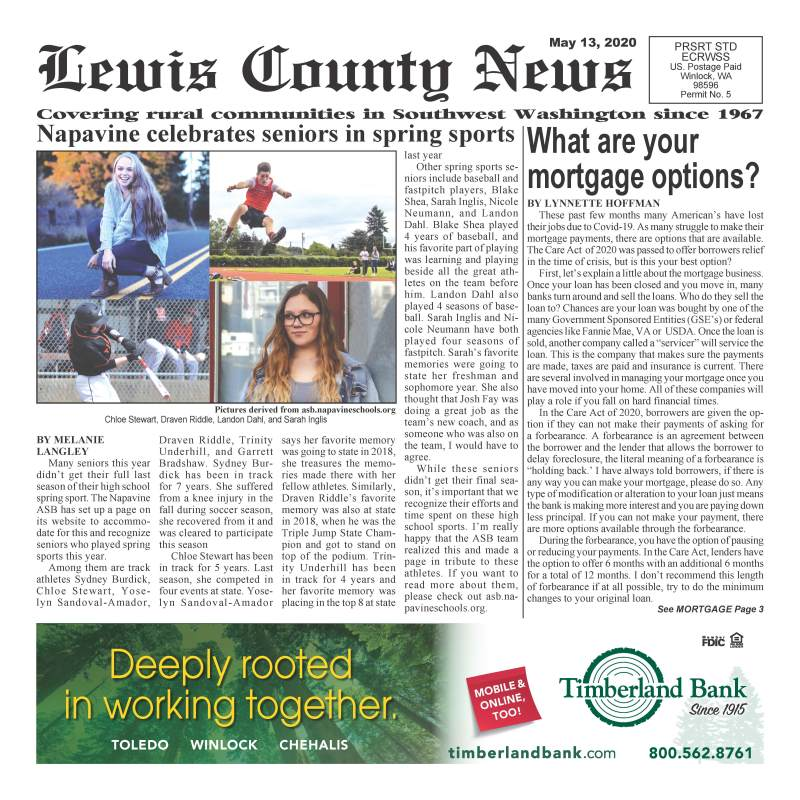 May 13, 2020 Lewis County News