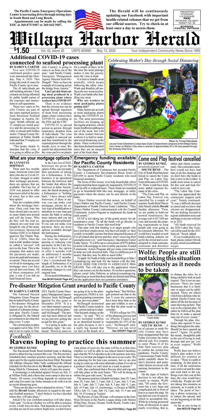May 13, 2020 Willapa Harbor Herald and Pacific County Press