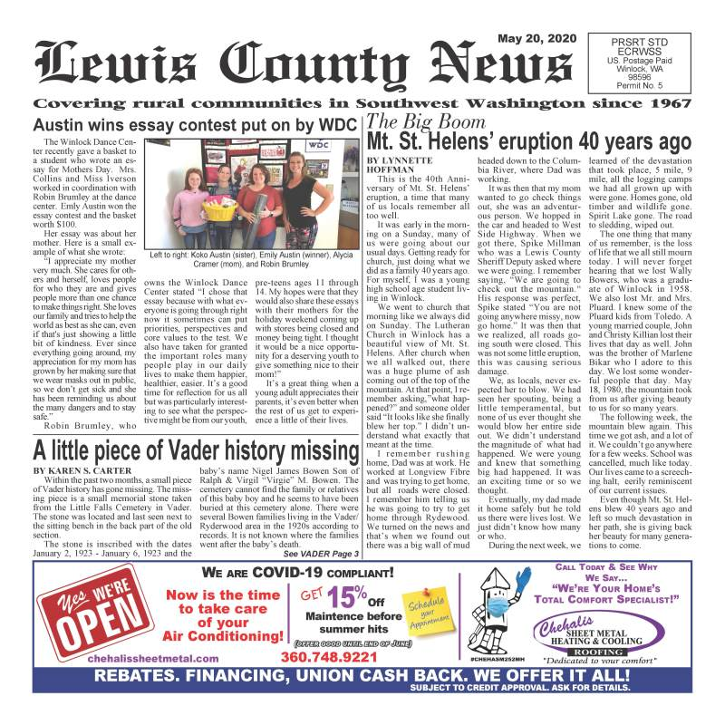 May 20, 2020 Lewis County News