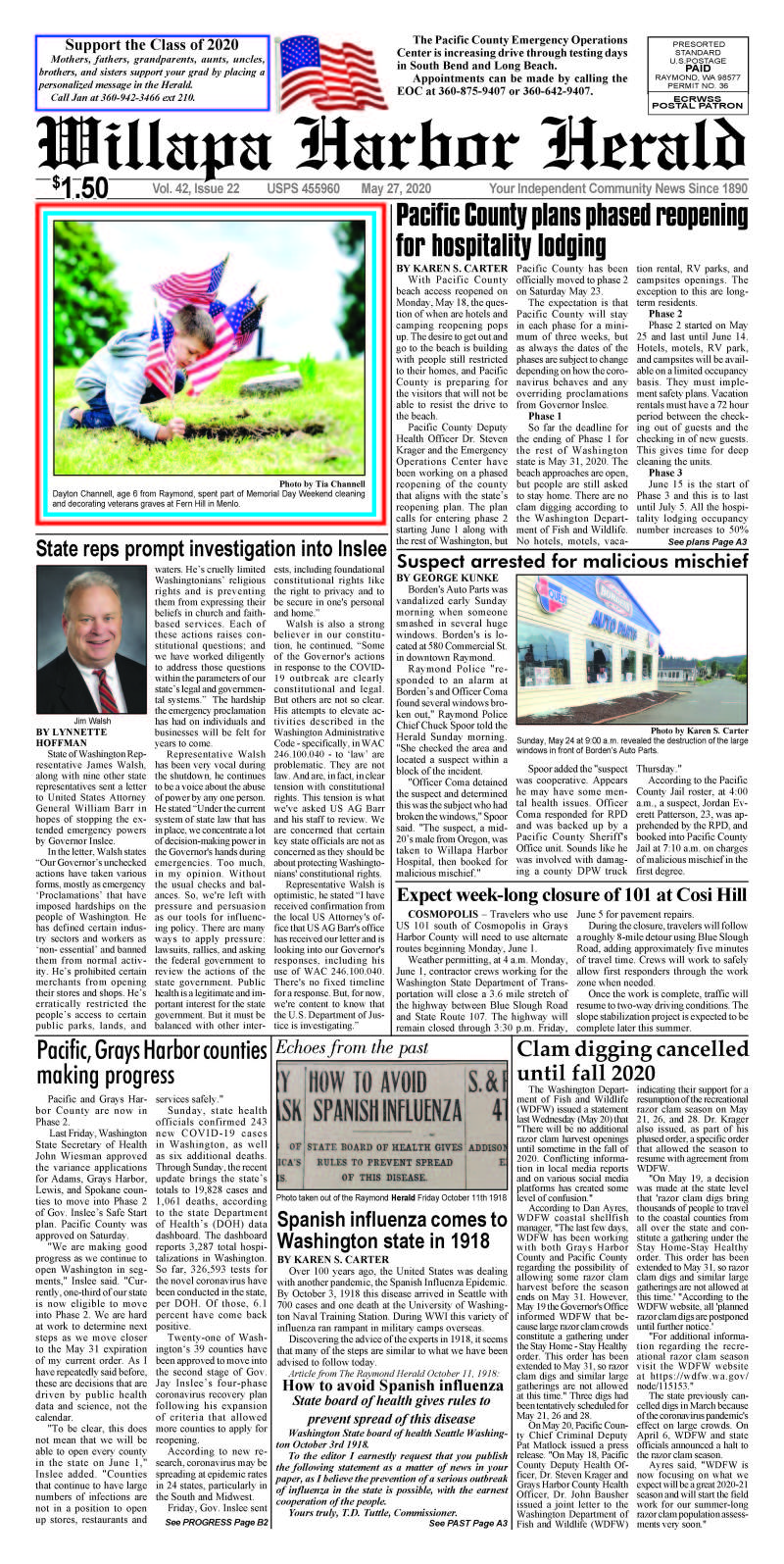 May 27, 2020 Willapa Harbor Herald and Pacific County Press