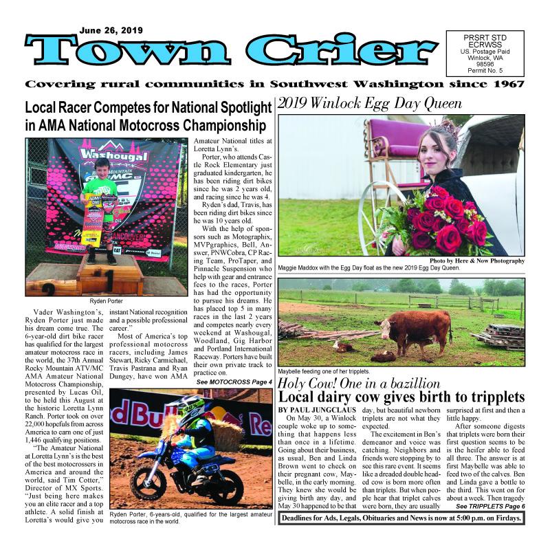 June 26, 2019 Town Crier