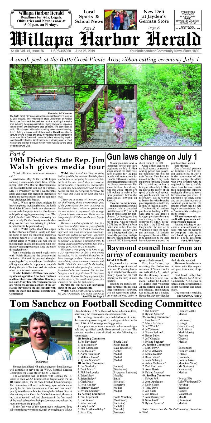 June 26, 2019 Willapa Harbor Herald