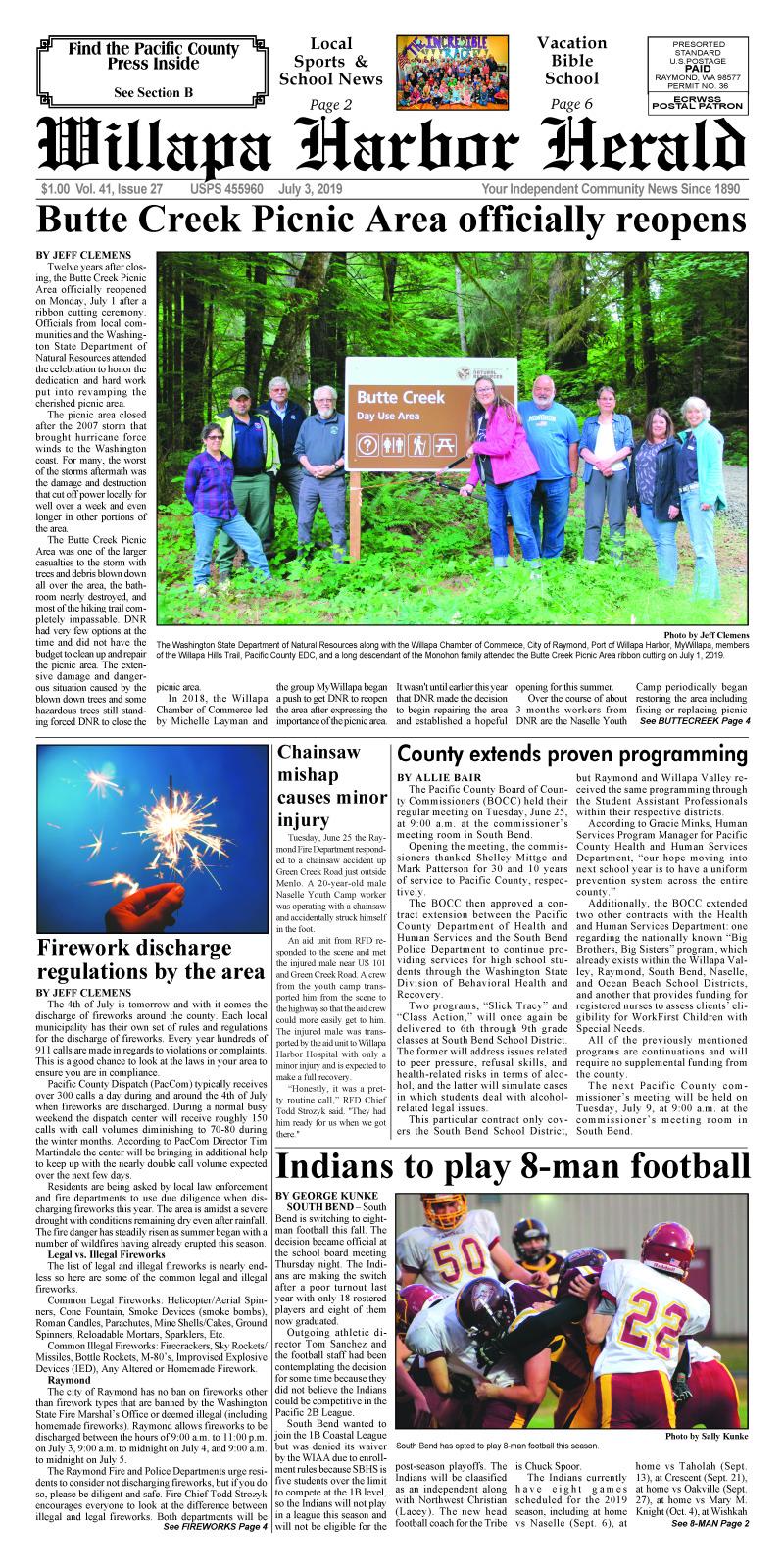 July 3, 2019 Willapa Harbor Herald