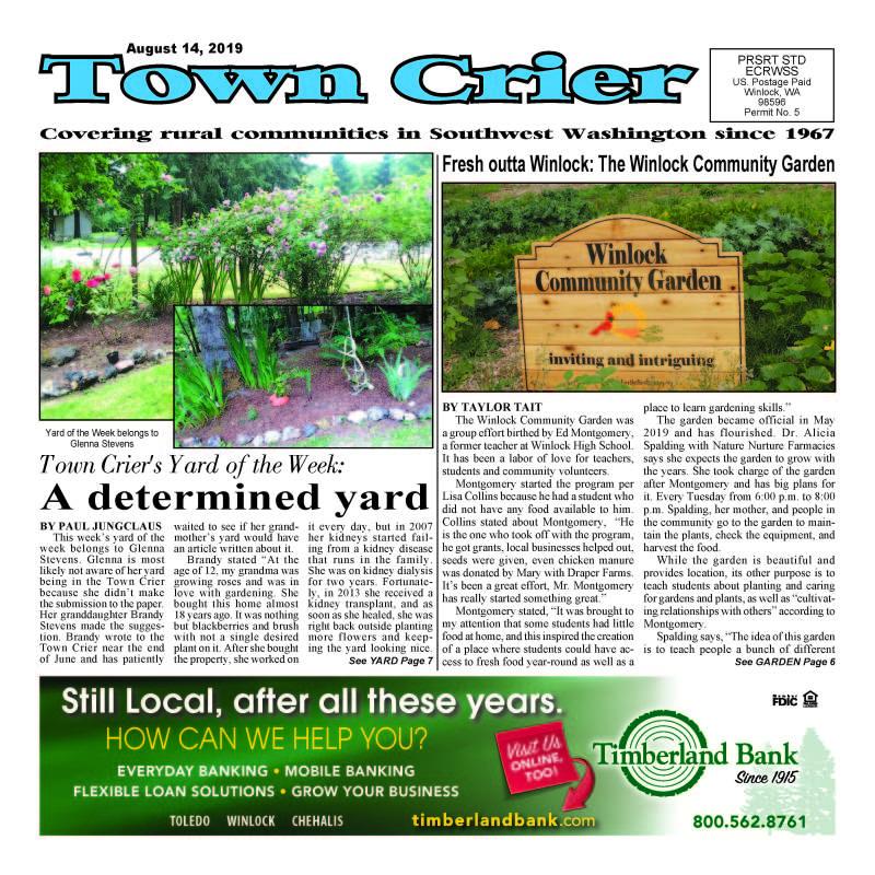 August 14, 2019 Town Crier