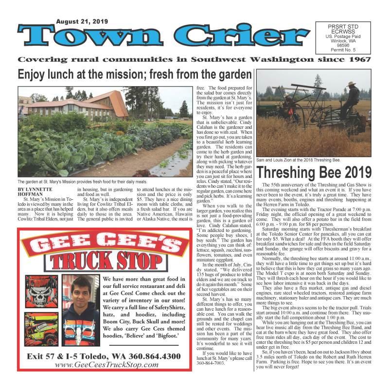 August 21, 2019 Town Crier