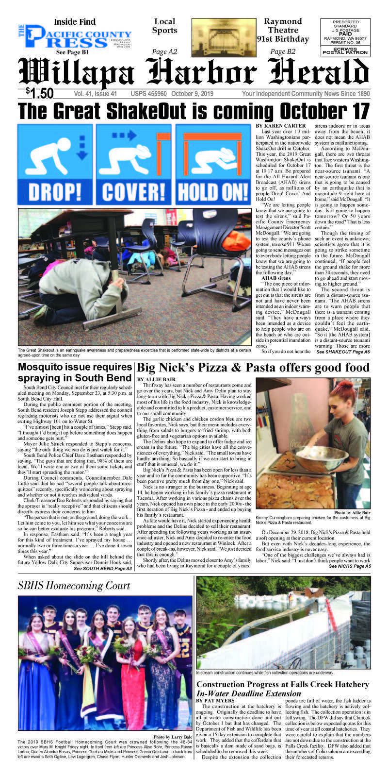 October 9, 2019 Willapa Harbor Herald and Pacific County Press
