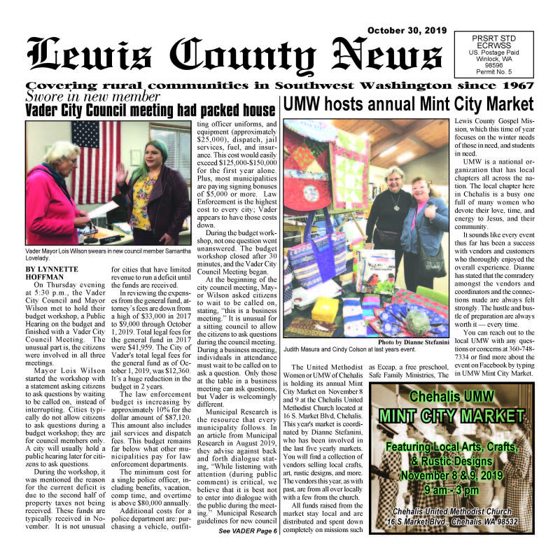 October 30, 2019 Lewis County News