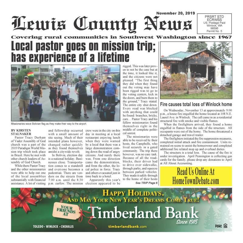 November 20, 2019 Lewis County News