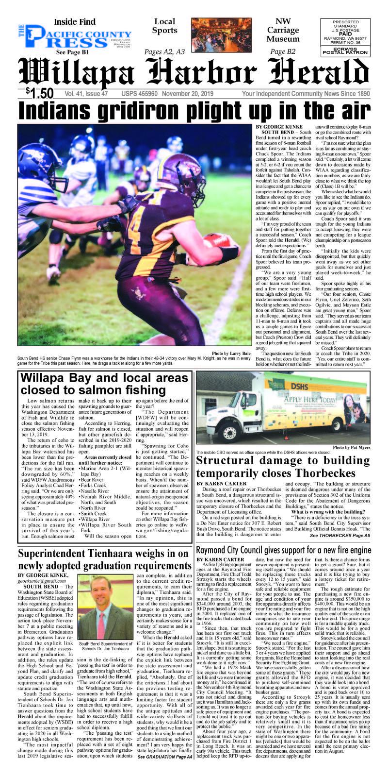 November 20, 2019 Willapa Harbor Herald and Pacific County Press