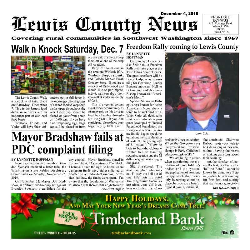 December 4, 2019 Lewis County News