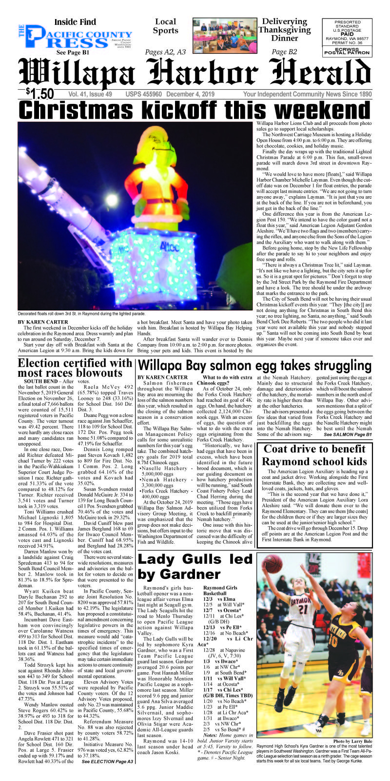 December 4, 2019 Willapa Harbor Herald and Pacific County Press