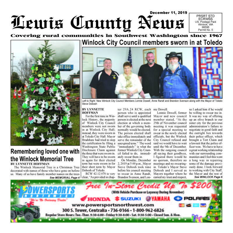 December 11, 2019 Lewis County News