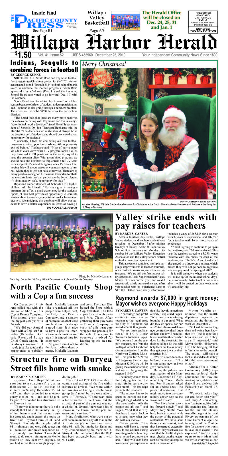 December 25, 2019 Willapa Harbor Herald and Pacific County Press