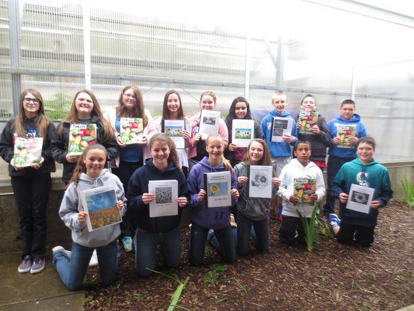 Seventh graders make sunflower houses